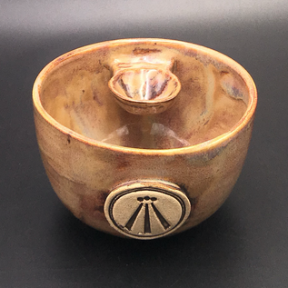 OMEN Altar Bowl in Tiger's Eye with Awen Symbol
