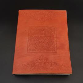 OMEN Large Pentacle in Square Journal in Orange