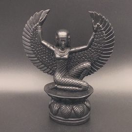 OMEN Black Isis Winged Statue