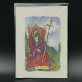 OMEN The Emperor - Tarot Greeting Card