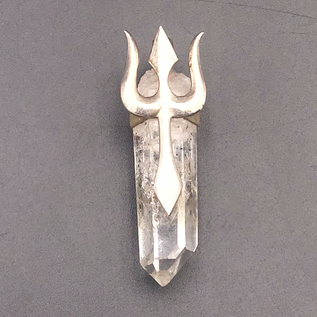 OMEN Brandenberg Quartz with Sterling Silver Trident