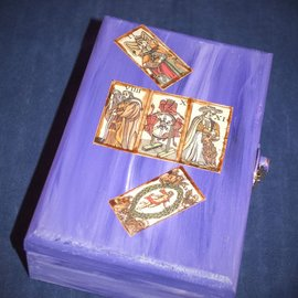 OMEN Purple Marseilles Tarot Box by Official Salem Witch Laurie Cabot