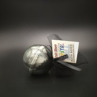 OMEN Pure Magic Grave Spirits Crystal Ball Bath Bomb with an Obsidian Crystal Inside!