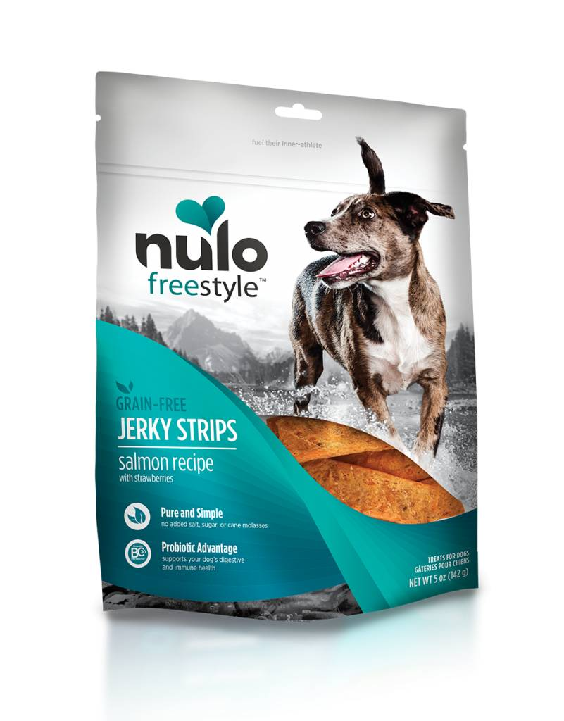 Nulo Nulo Jerky Strip Dog Treats Salmon