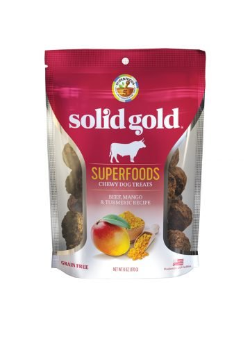 Solid Gold Solid Gold Chewy Dog Treats Beef Mango & Turmeric 6 oz