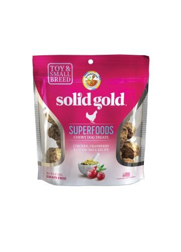 Solid Gold Solid Gold Chewy Dog Treats Chicken Cranberry & Chamomile 4 oz