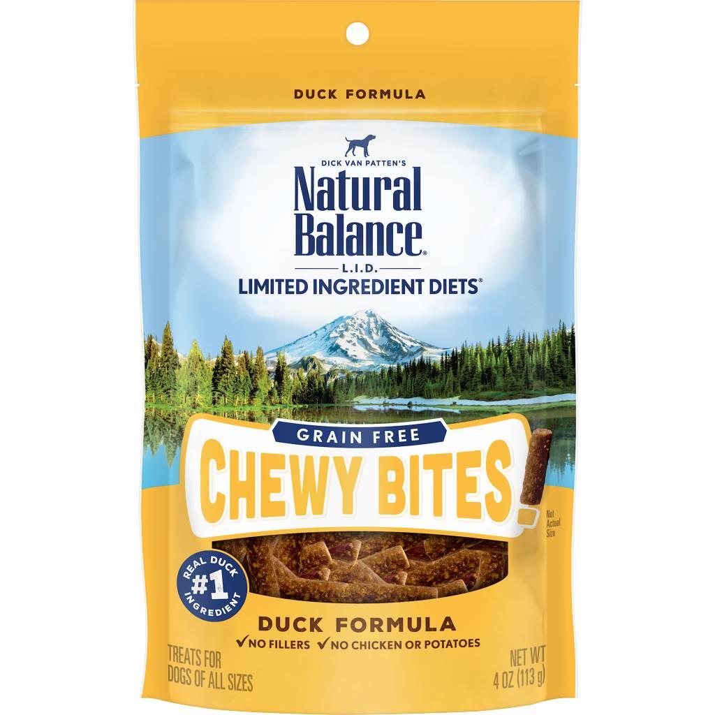 Natural Balance Natural Balance LID Grain Free Chewy Bites Duck 4 oz.