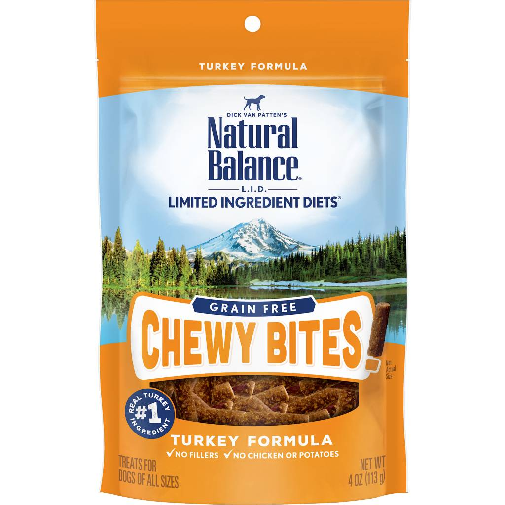 Natural Balance Natural Balance LID Grain Free Chewy Bites Turkey 4 oz.