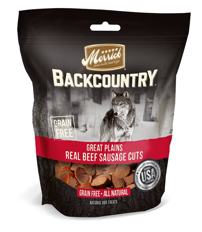Merrick Merrick Backcountry Great Plains Real Beef Sausage Cuts