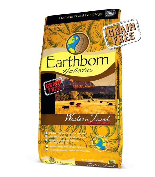 Earthborn Western Feast Dry Dog Food 28 lb.