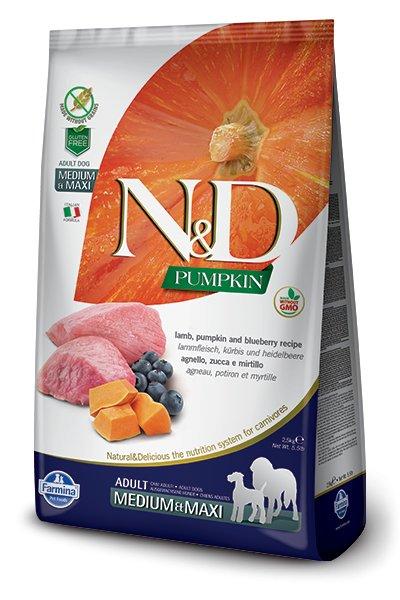 Farmina Farmina N+D Pumpkin Grain Free Lamb and Blueberry Medium and Maxi