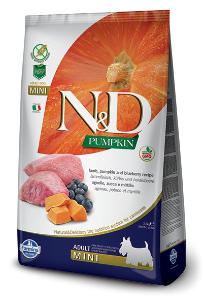 Farmina Farmina N+D Pumpkin Grain Free Lamb and Blueberry Mini