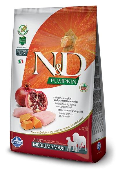 Farmina Farmina N+D Pumpkin Grain Free Chicken and Pomegranate Medium and Maxi