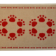 Buddy's Line Buddy's Line Jute Place Mat Red Paw Flowers