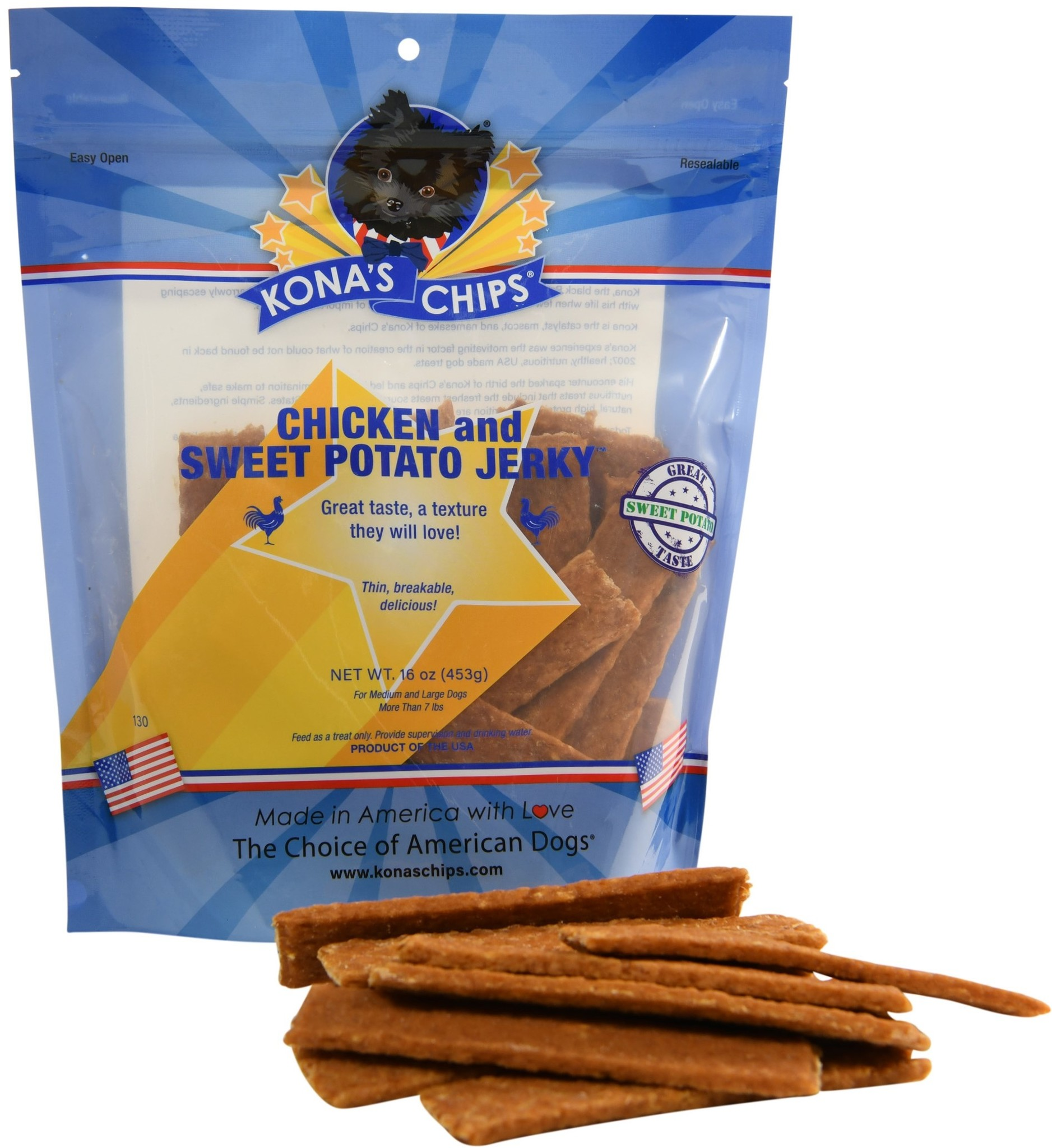 Kona's Chips Kona's Chips Chicken and Sweet Pototo Jerky