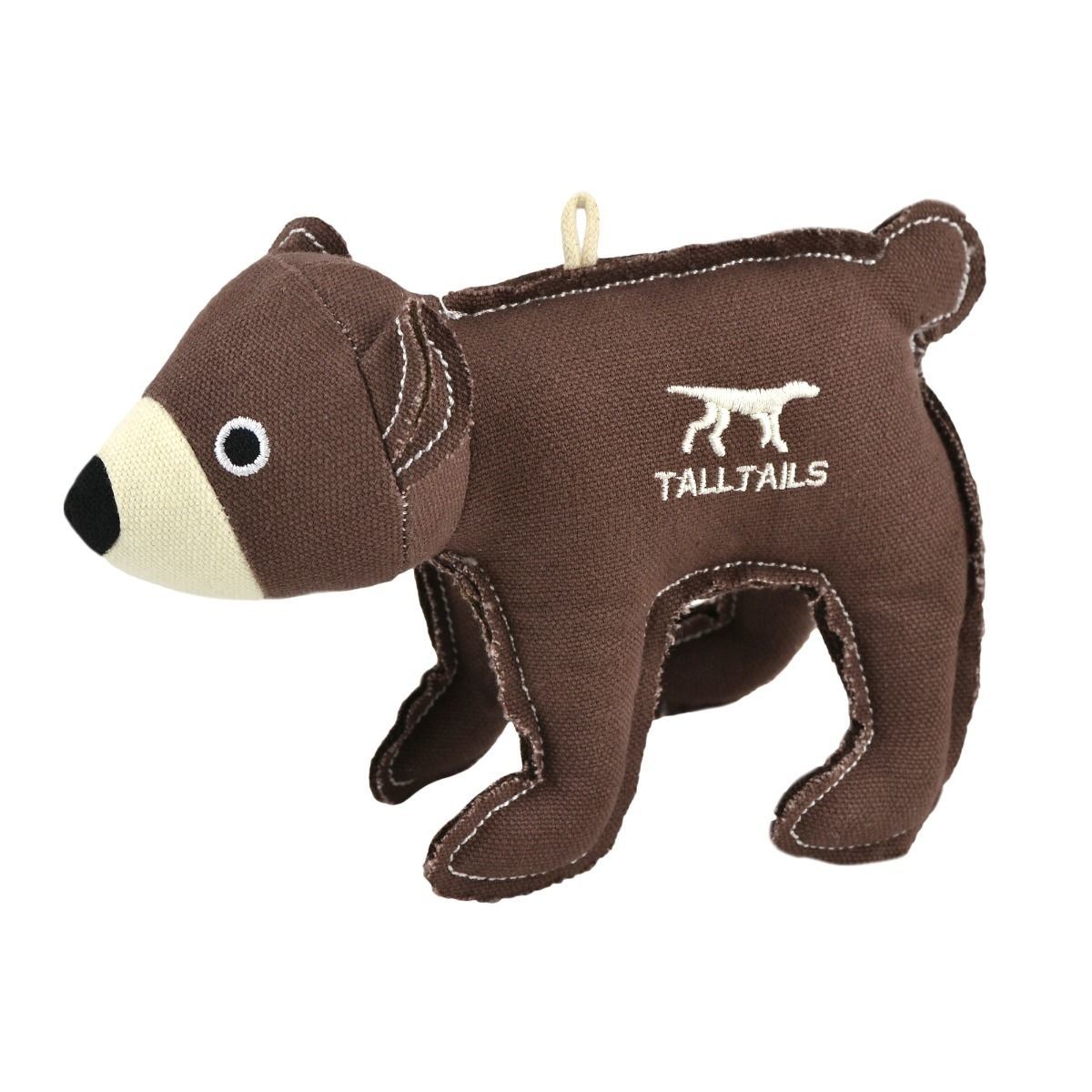 """Tall Tails Tall Tails Dog Toy Cabin Comfort Squeaker Bear Canvas 5"""""""