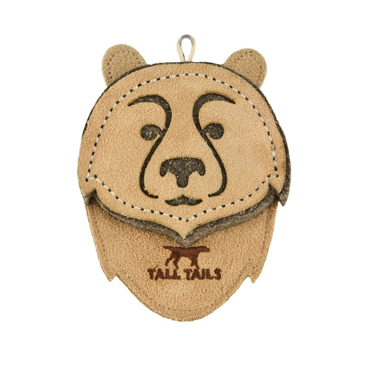 """Tall Tails Tall Tails Dog Toy Cabin Comfort Bear Natural Leather 4"""""""