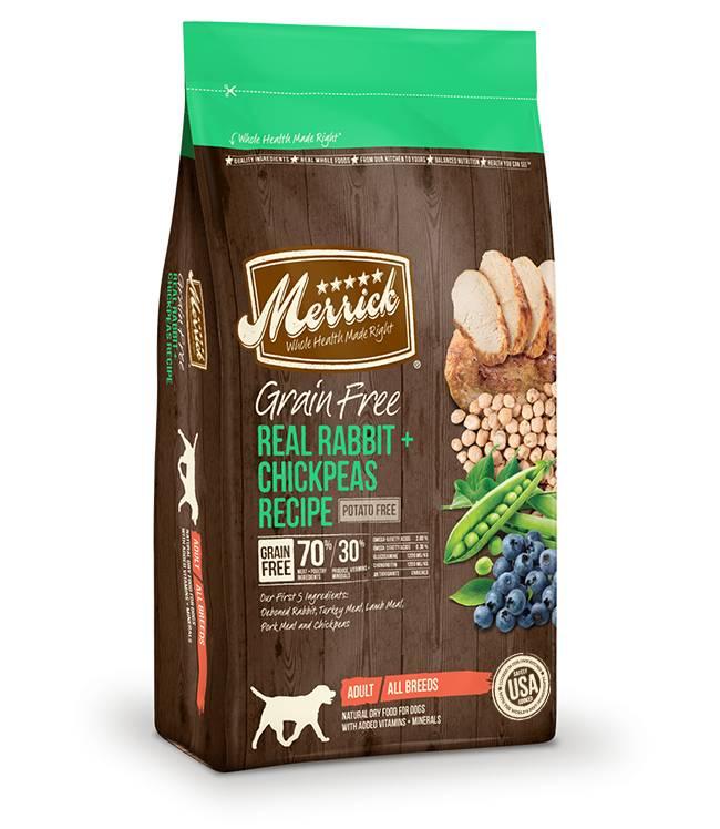 Merrick Grain Free Real Rabbit + Chickpeas Recipe for Dogs