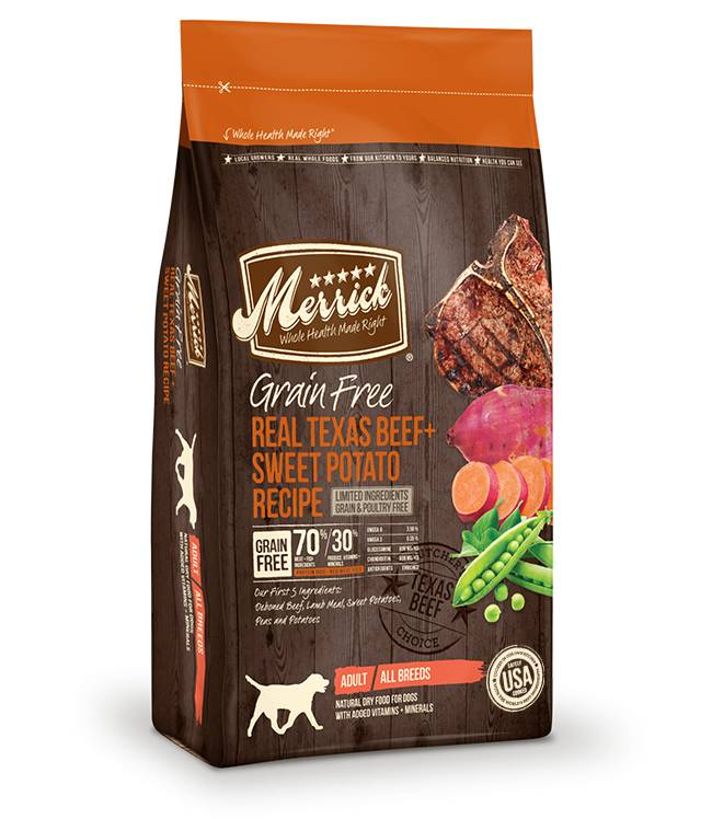 Merrick Grain Free Real Texas Beef + Sweet Potato Recipe for Dogs