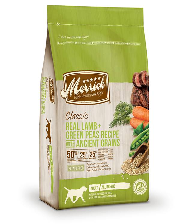 Merrick Classic Real Lamb + Green Peas Recipe with Ancient Grains for Dogs