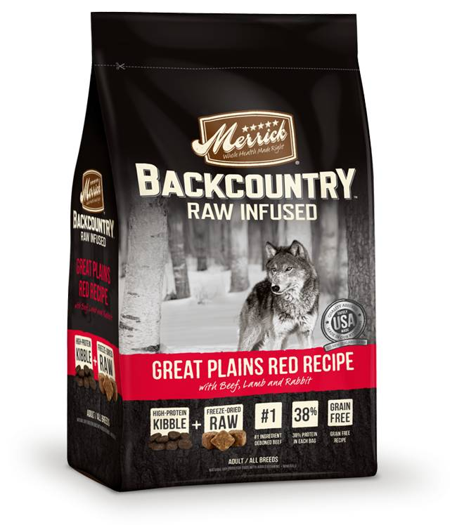 Merrick Backcountry - Raw Infused - Great Plains Red Meat Recipe for Dogs