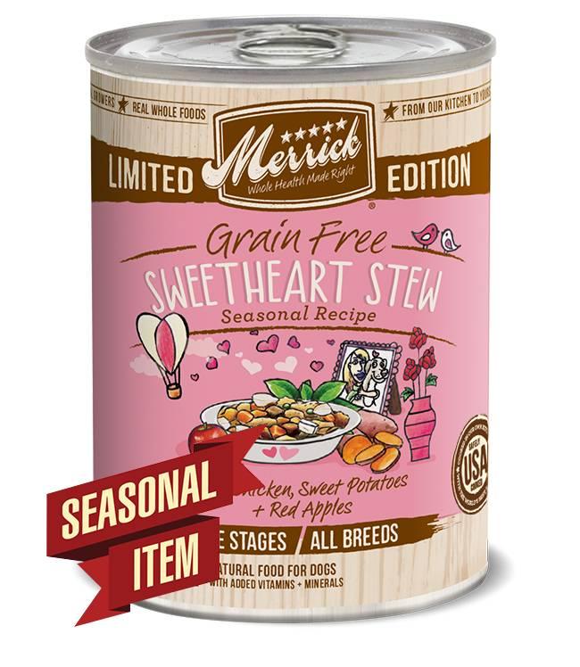 Merrick Grain Free Sweetheart Stew in Gravy Seasonal Recipe for Cats