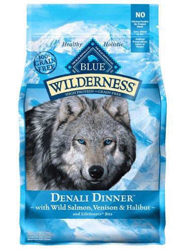 Blue - Wilderness BLUE Wilderness® Denali Dinner™ with Wild Salmon, Venison & Halibut For Dogs