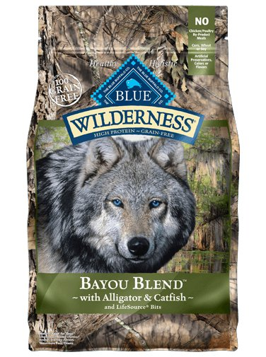 Blue - Wilderness BLUE Wilderness® Bayou Blend™ with Alligator & Catfish For Dogs