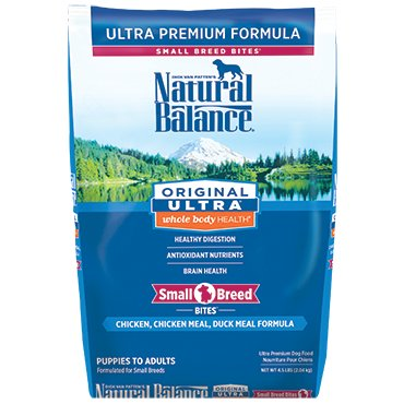 Natural Balance Original Ultra® Whole Body Health® Chicken, Chicken Meal, Duck Meal Small Breed Bites ® Dry Dog Formula
