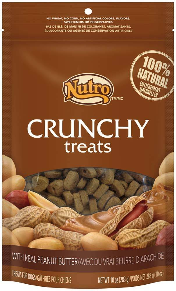 Nutro Nutro Crunchy Dog Treat Peanut Butter 10 oz.