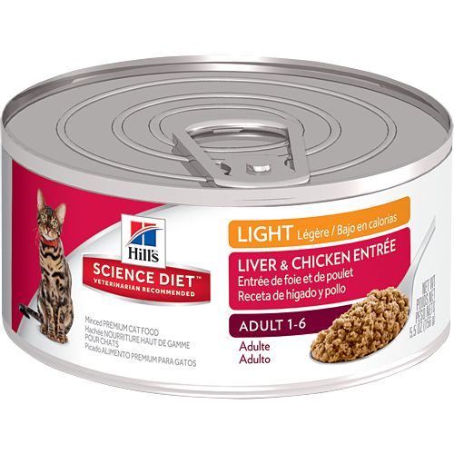 Science Diet Hill's® Science Diet® Adult Light Liver & Chicken Entrée for Cats