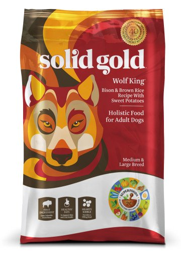 Solid Gold Wolf King® With Bison Bison & Brown Rice Recipe With Sweet Potatoes for Dogs