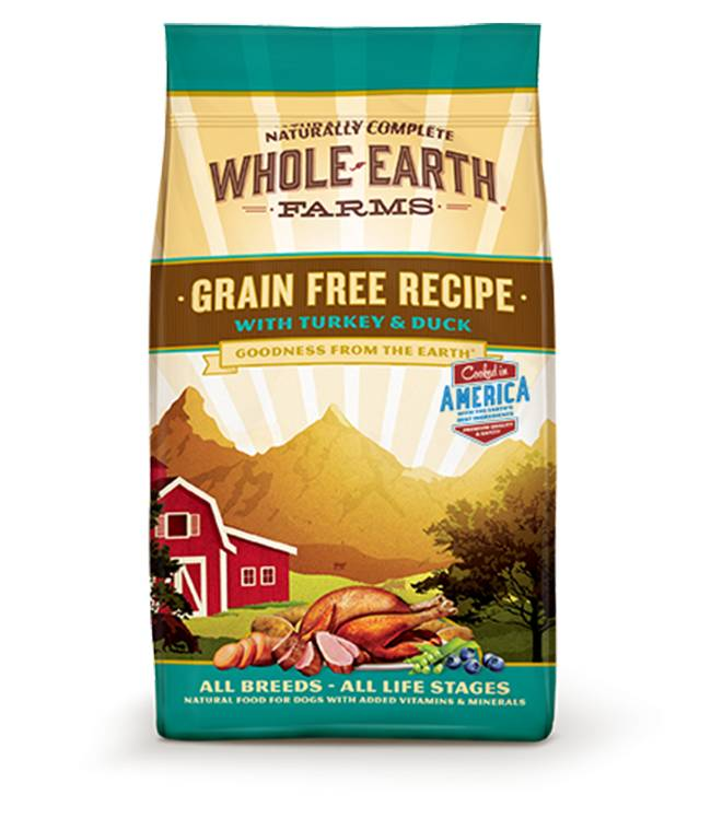 Whole Earth Farms Grain Free Recipe with Turkey and Duck for all Dog Breeds & Life Stages