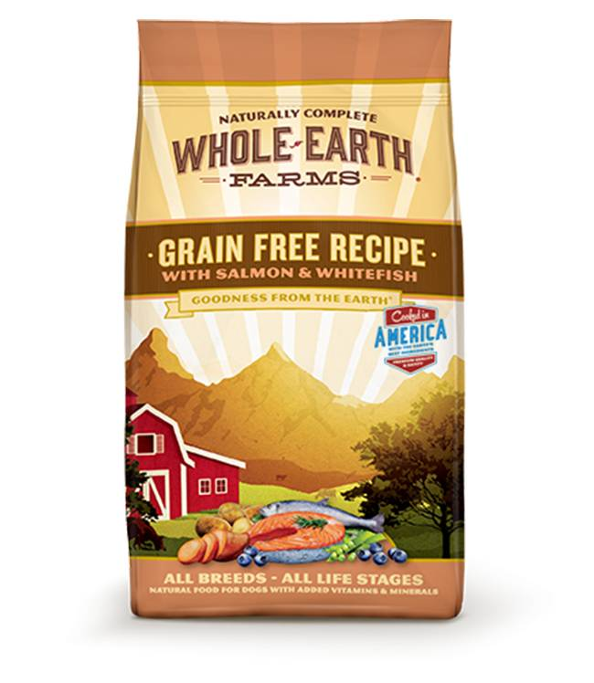 Whole Earth Farms Grain Free Recipe with Salmon & Whitefish for all Dog Breeds & Life Stages
