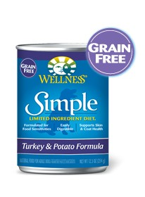 Wellness - Simple Wellness Simple Grain Free Duck and Potato Canned Recipe for Dogs