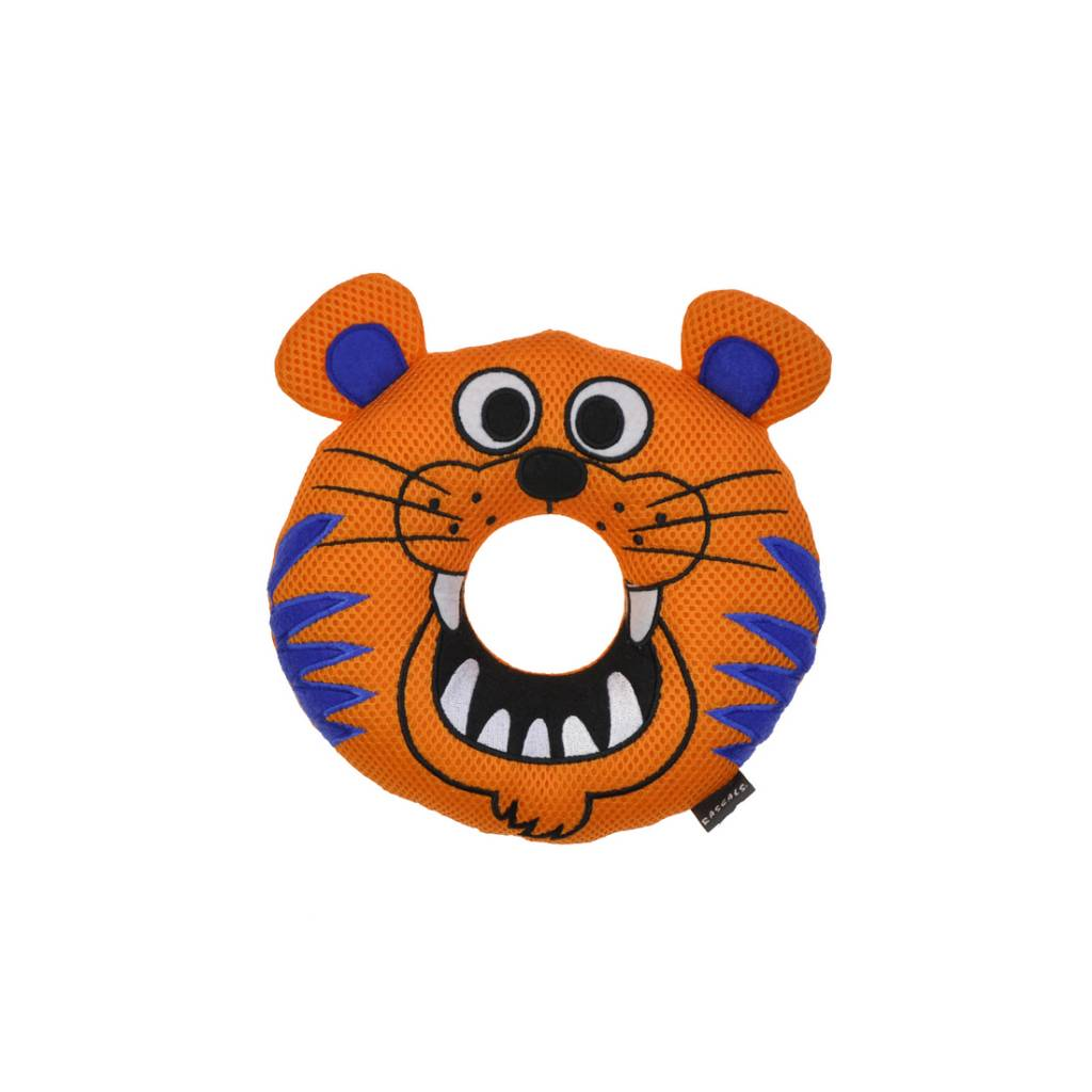 Rascals Rascals Rugged Ringers - Tyler Tiger Dog Toy
