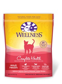 Wellness - Complete Health Wellness Complete Health Adult Health Salmon, Salmon Meal & Deboned Turkey Recipe for Cats