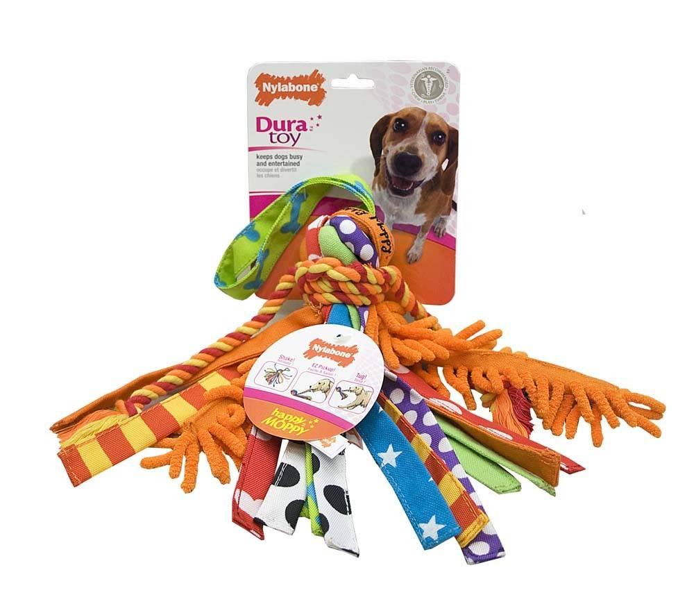 Nylabone Duratoy Medium Happy Moppy Dog Toy