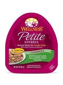 Wellness - Complete Health Wellness Petite Entrees Casserole with Roasted Lamb, Peas & White Sweet Potatoes for Dogs