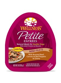 Wellness - Complete Health Wellness Petite Entrees Mini-Filets with Roasted Beef, Carrots &  Red Peppers in Gravy for Dogs