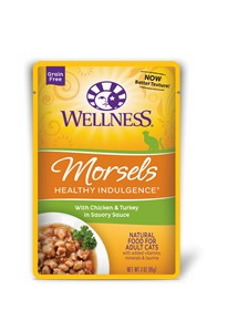 Wellness - Complete Health Wellness Healthy Indulgence Morsels with Chicken & Turkey in Savory Sauce for Cats
