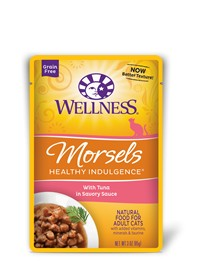 Wellness - Complete Health Wellness Healthy Indulgence Morsels with Tuna in Savory Sauce for Cats
