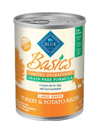Blue - Basics BLUE Basics® Grain-Free Turkey & Potato Recipe For Large Breed Adult Dogs