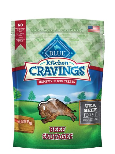 Blue - LPF BLUE Kitchen Cravings™ Beef Sausages Homestyle Dog Treats