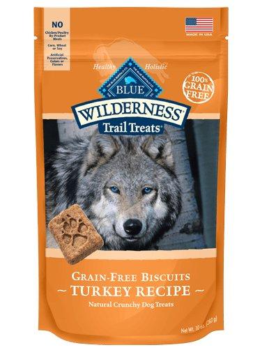 Blue - LPF BLUE Wilderness Trail Treats® Turkey Biscuits Natural Crunchy Dog Biscuits