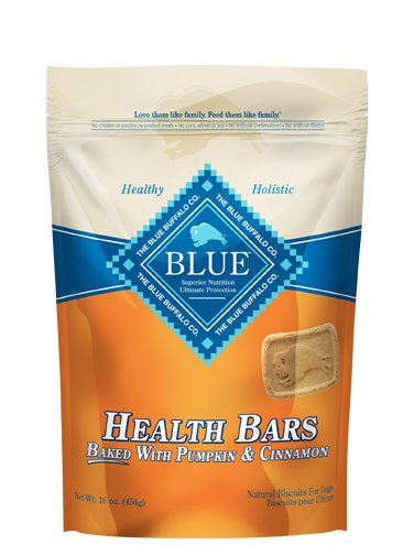 Blue - LPF BLUE™ Health Bars Baked with Pumpkin and Cinnamon Natural Biscuits for Dogs
