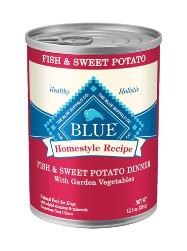 Blue - LPF BLUE Homestyle Recipe® Fish & Sweet Potato Dinner with Garden Vegetables For Adult Dogs