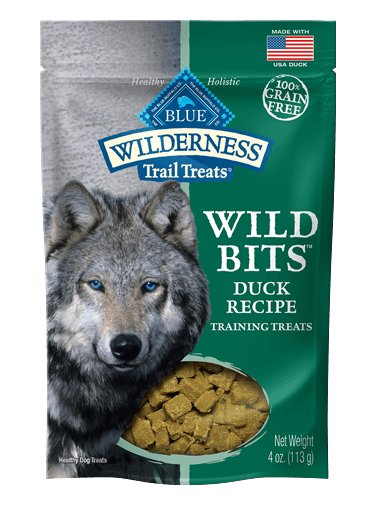 Blue - Wilderness BLUE Wilderness Trail Treats ® Duck Wild Bits™ Grain-Free Dog Training Treats