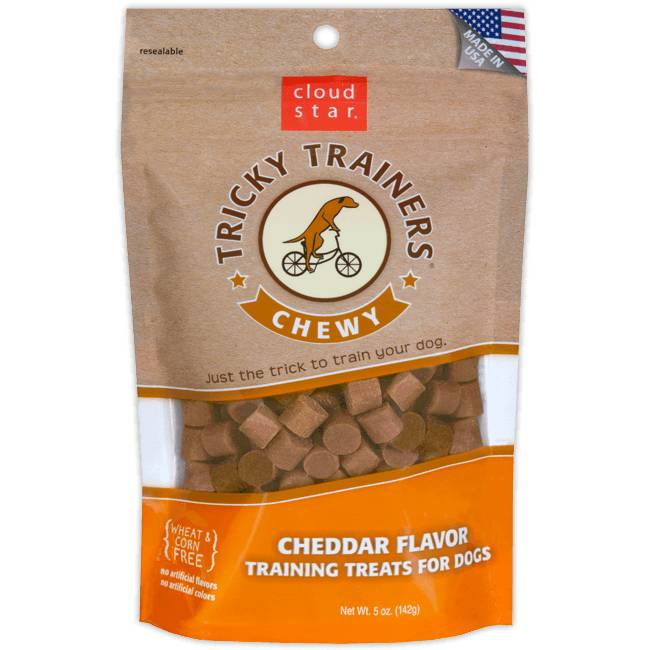 Chewy Tricky Trainers Dog Treats: Cheddar