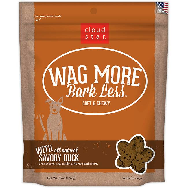 Wag More Bark Less Soft & Chewy Dog Treats: Savory Duck